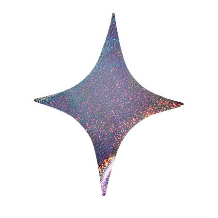 "12"" Sparkle Holographic Tagboard Stars"