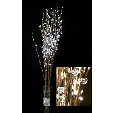 Crystal Branch Bouquet - Warm White