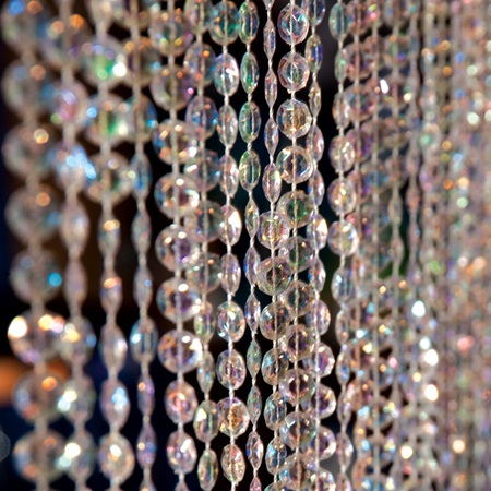 Iridescent Crystal Curtain 6 Ft Long Anderson S
