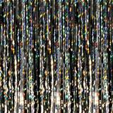 Black Holographic Curtain