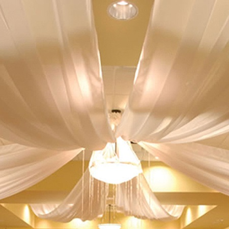 Four Panel Ceiling Panel Drape Decor Kit, 21' x 10'
