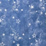 "Blue Gossamer with White Outlined Stars, 59"" wide"