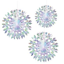 Iridescent Fans Set (set of 3)