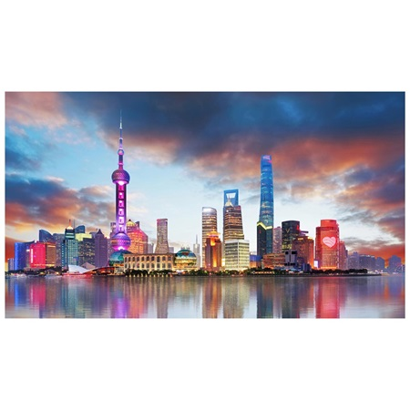 Shanghai cityscape photo mural anderson 39 s for Cityscape mural