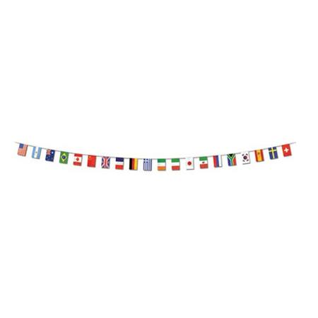 International Flag Banner with 20 Flags