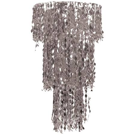 3-Tier Wavy Spangle Fringe Chandelier