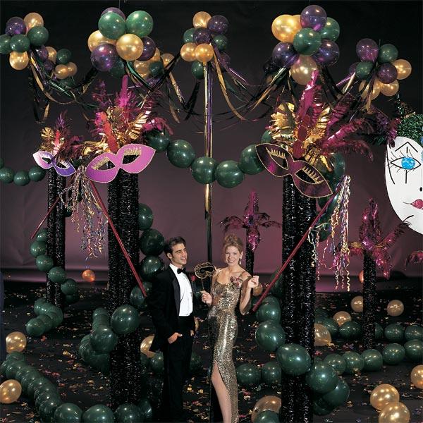 Masquerade Ball Prom Decorations: Mardi Gras Madness Complete Prom Theme Kit