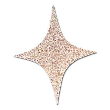 4-Point Holographic Stars - 6 in.