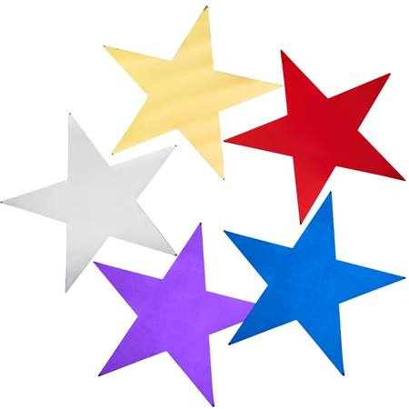 2.5 in Decorating Metallic Stars 100 Pack