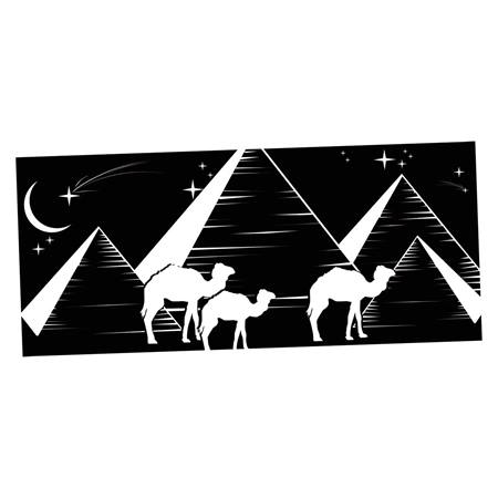 Egyptian nights black and white mural anderson 39 s for Black and white mural