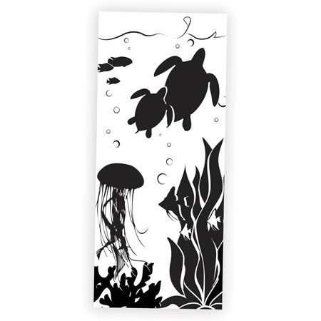 Underwater Fantasy Black and White Mural