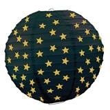 Paper Lanterns - Black with Gold Stars