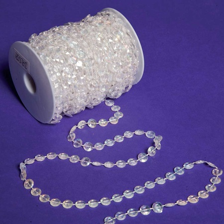 Iridescent Crystal Bead Garland