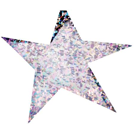 12 in. Holographic Wacky Stars