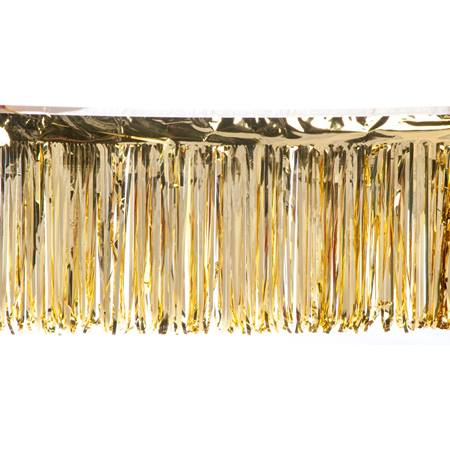 "Metallic Fringe - 15"" x 10' Roll"