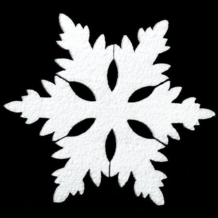 Styrofoam 9 in. Snow Flake