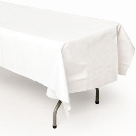 White Better Than Linen™ Rectangle Tablecover