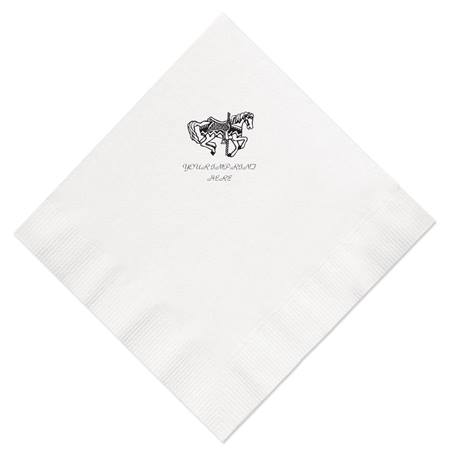 Custom Imprinted White Luncheon Napkins