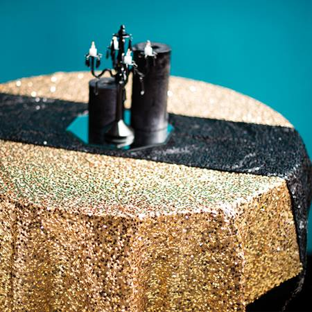 Sequin Square Table Cover - 72 in.