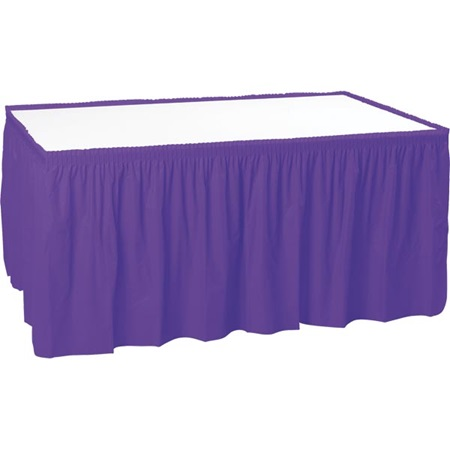 29 in x 14 ft Vinyl Table Skirt