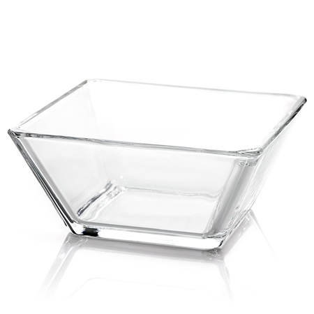 Glass Square Bowl, 5 1/2 in.