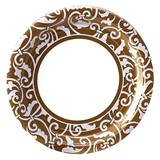 Damask Luncheon Plates, 8/pkg