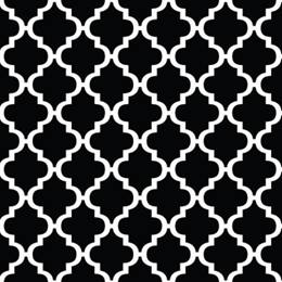 Black and White Moroccan Flat Paper