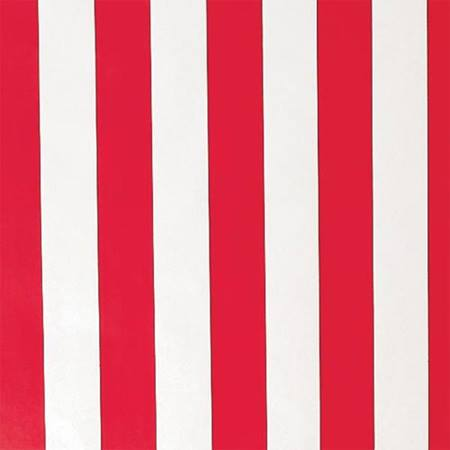 Red and White Striped Corrugated Patterned Paper