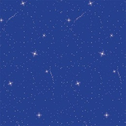 Blue Starflakes Flat Patterned Paper
