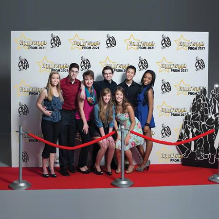 Step And Repeat Wall Photo Prop Andersons - red carpet wall design