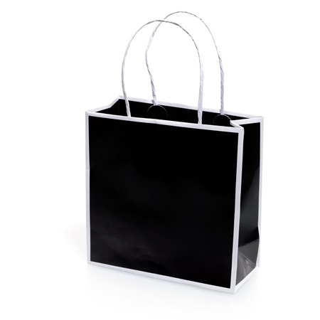 Black and White Favor Bag