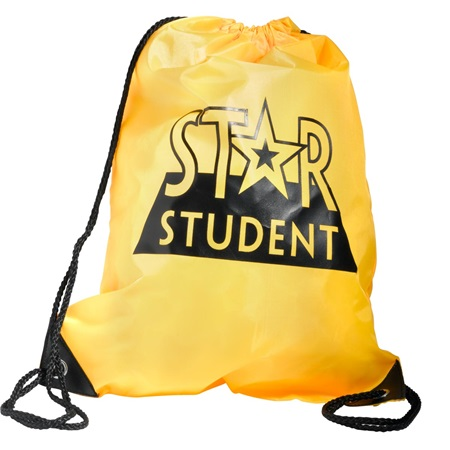 Star Student Drawstring Backpack