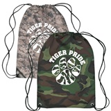 Camo Cinch Strap Notebook Backpack