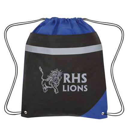 Drawstring Backpack With Reflective Stripe