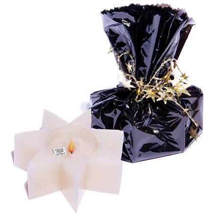 Wrapped Treasure Star Candle - Black