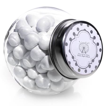 Silver Metallic Foil Candy Jars - Dots
