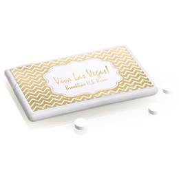 Metallic Foil Mini Mints - Gold Chevrons