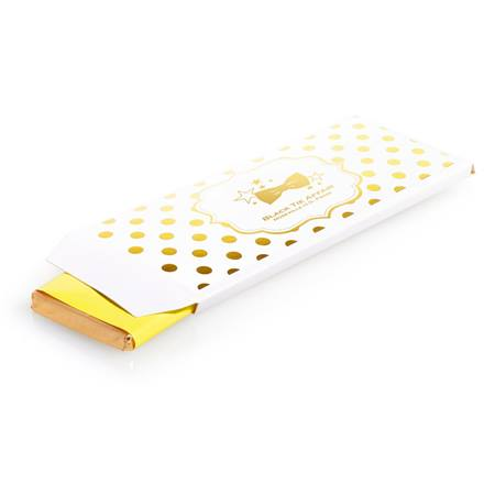 Metallic Foil Candy Wrapper Cover - Gold Dots