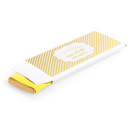 Metallic Foil Candy Wrapper Cover - Gold Stripes