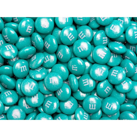 Teal M&M's® Milk Chocolate Candy - 5 lbs.
