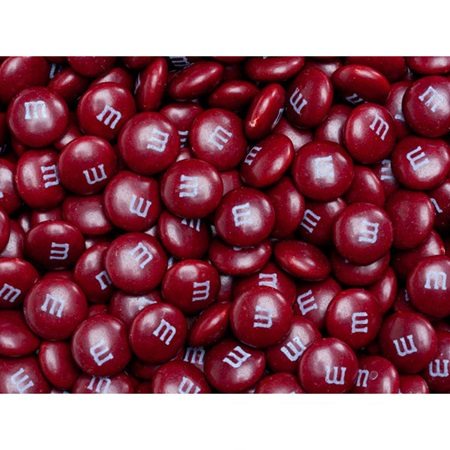 Maroon M&M's® Milk Chocolate Candy - 2 lbs.