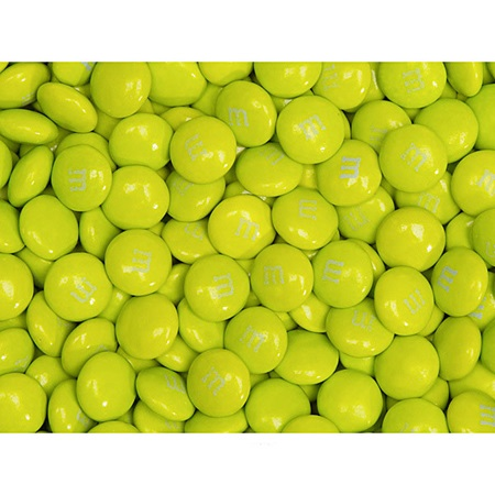 Neon Green M&M's® Milk Chocolate Candy - 2 lbs.