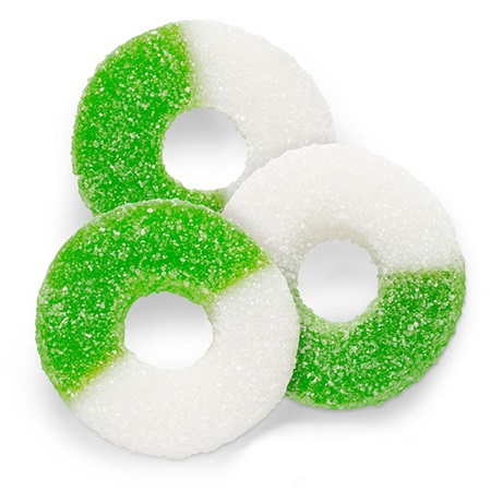 Gummy Rings - Green and White