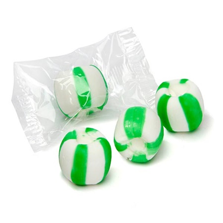 Meltaway Crumble Candies - Green and White
