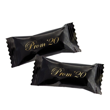 500 Black Wrapper Buttermints with Gold Prom '19""""