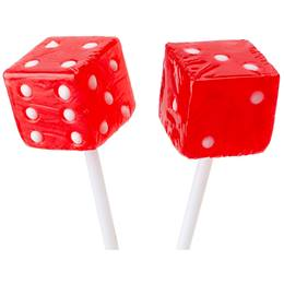 Dice Lollipops - Red
