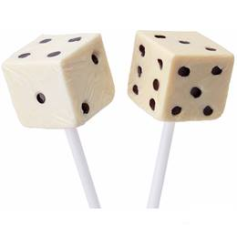 Dice Lollipops - White