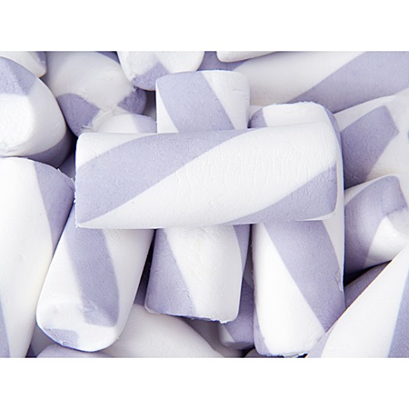 Jumbo Marshmallow Twists - Lavender/White