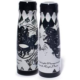 Full-color Urban Water Bottle - Black and White Masquerade