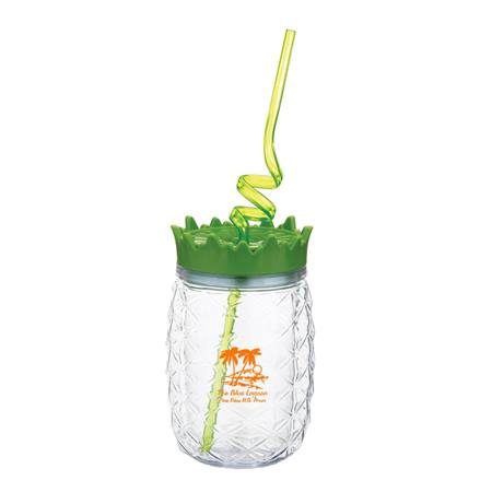 Pineapple Tumbler With Straw